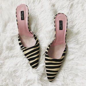 Kate Spade $298 zebra print kitten heel ✨size 8B